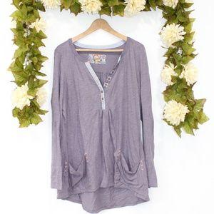 ANTHROPOLOGIE - Purple Long Sleeve Top